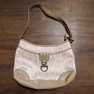 Etienne Aigner Shoulder Bag Canvas Leather